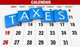 Impuesto sobre la renta Fotos de archivo libres de regalías