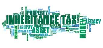 Impuesto sobre sucesiones Imágenes de archivo libres de regalías