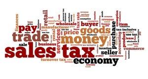 Impuesto sobre venta Imagen de archivo