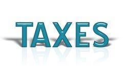 Impuestos Foto de archivo libre de regalías