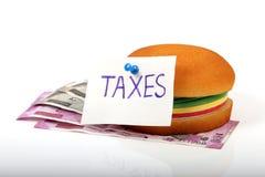 Impuestos de la comida fotografía de archivo