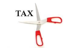 Impuestos del corte Imágenes de archivo libres de regalías