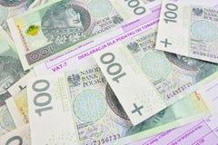 Impuestos polacos Imagen de archivo