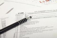 Impuestos sobre la renta Imagen de archivo libre de regalías