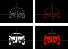 Impuls auf Auto mit Hintergrund Lizenzfreie Stockfotos