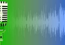 Impuls bewegt Mikrofon wellenartig Stockbild