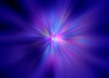 Impuls der purpurroten Strahlen stock abbildung