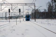 Impuls die naar trainstation gaan Stock Foto's