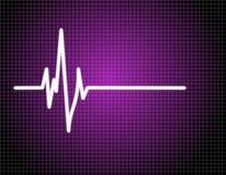 Impuls EKG (ECG) Stockbild
