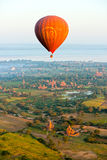 Impuls over Bagan, Myanmar Stock Afbeeldingen