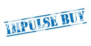Impulse buy blue stamp. Isolated on white background Stock Image