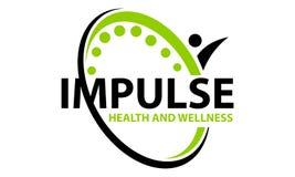 Impulse Health and wellness. Logo Design Template Vector Royalty Free Stock Photography