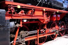 Impulse linkage of a steam engine Stock Photos