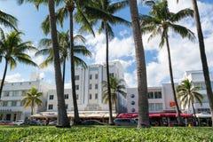 Impulsión Art Deco, Miami Beach del océano Imagen de archivo libre de regalías