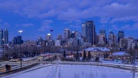 Impulsión conmemorativa en Calgary Alberta almacen de metraje de vídeo