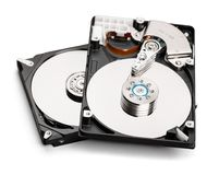 Impulsión de discos duros HDD aislada en el fondo blanco Fotos de archivo