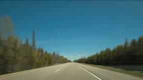 Impulsión de la carretera de Hyperlapse almacen de metraje de vídeo