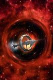 Impulsión de la deformación de la nave espacial stock de ilustración