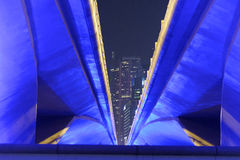 Impulsión de la explanada en Singapur Imagenes de archivo