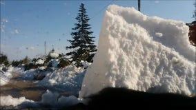 Impulsión de la nieve almacen de video