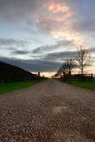 Impulsión de la puesta del sol Imagenes de archivo