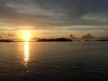 Impulsión de la puesta del sol fotografía de archivo libre de regalías