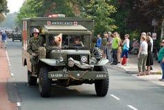 Impulsión de los vehículos de la guerra mundial 2 cerca Imágenes de archivo libres de regalías