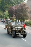 Impulsión de los vehículos de la guerra mundial 2 cerca Fotografía de archivo