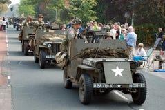 Impulsión de los vehículos de la guerra mundial 2 cerca Fotos de archivo libres de regalías