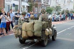 Impulsión de los vehículos de la guerra mundial 2 cerca Fotos de archivo