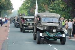 Impulsión de los vehículos de la guerra mundial 2 cerca Imagen de archivo libre de regalías