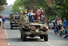 Impulsión de los vehículos de la guerra mundial 2 por 8 Fotos de archivo