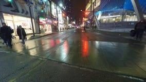 impulsión de Point of View de la noche de 4K UltraHD (POV) en Toronto metrajes