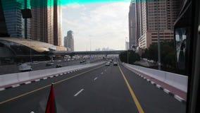 Impulsión de Timelapse a través de Dubai metrajes