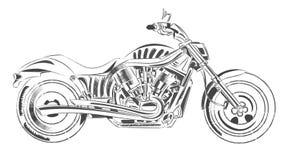 Impulsión del motor del arte del vector de la moto Foto de archivo libre de regalías