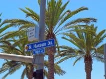 Impulsión del puerto en el San Diego Oceanfront foto de archivo libre de regalías