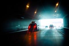 Impulsión del túnel a la luz Fotos de archivo libres de regalías