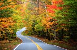 Impulsión rural hermosa de Vermont en tiempo del otoño imagen de archivo libre de regalías