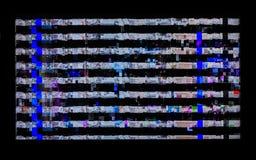 Impulsi errati, distorsioni, bande sul LCD TV Fotografie Stock