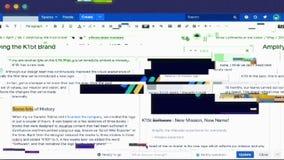 Impulsi errati e insetti del sistema sullo schermo di computer video d archivio
