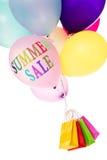 Impulsi variopinti e sacchetti della spesa, vendita di estate Fotografia Stock Libera da Diritti