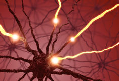 Impulsion de cellule nerveuse photos libres de droits