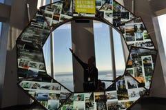 Impulsion de ville à l'un World Trade Center à New York City Image stock