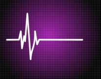 Impulsion EKG (ECG) Image stock