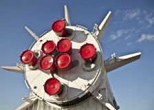 Impulsionadores de Rocket em Saturno V Imagens de Stock