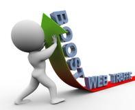 impulso do tráfego do Web 3d Imagens de Stock Royalty Free