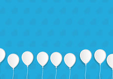 Impulsos del estilo del Libro Blanco en fondo de los corazones Modelo de la tarjeta de felicitación Imagen de archivo libre de regalías