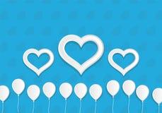 Impulsos y corazones del estilo del Libro Blanco Modelo de la tarjeta de felicitación Fotos de archivo libres de regalías