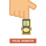 Impulsoximeter vector illustratie