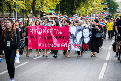 Impunity Bill Protest in Thailand Stock Images